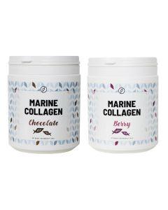 Plent - Gehydrolyseerde Vis Collageen - 2 x 225 gram - Chocolade + Berry