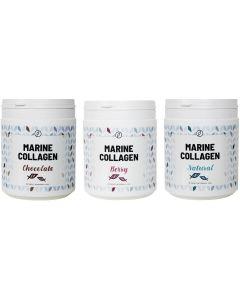 Plent Gehydrolyseerde Vis Collageen Peptiden - 3 x 225 gram - alle smaken