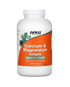 Now Foods, Calcium & Magnesium with Vitamin D-3 and Zinc, 240 Softgels