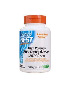 Doctor's Best SERRAPEPTASE - 120.000 SPU – 90 capsules