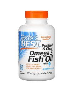 Doctor's Best - gezuiverde en heldere omega 3-visolie met Goldenomega -120 Marine Softgels (1.000 mg)