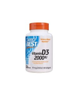 Doctor's Best - Vitamine D3 (2000IU) - 180 soft gels (50mg)