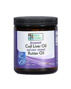 Green Pasture - Fermented Cod Liver Oil / Butter Oil Blend - 240ml Gel (Cinnamon)