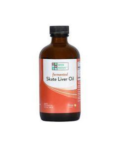 Green Pasture - Blue Ice™ Gefermenteerde rog lever olie - Sinaasappel – 180ml