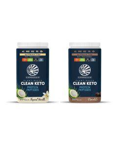 Sunwarrior - Clean Keto Proteine Peptides - vanille Chocolade - 2 x 720 gr