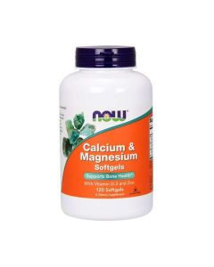 Now Foods - Calcium & Magnesium & Vit D - 120 soft gels