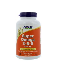 NOW - Super Omega 3-6-9 - 90 softgels (1200mg)