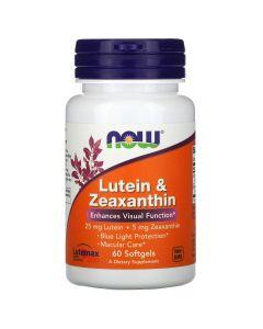 NOW3064 Lutein & Zeaxanthin - 60 soft gels