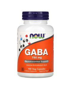 Now Foods - Gaba - 100 V-Caps (750 mg)