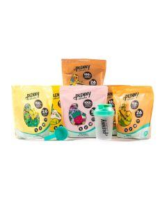 Jimmy Joy - Plenny Shake - alle smaken pakket - 6 x 950 gram (Gratis shaker + scoop)