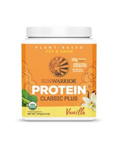 Sunwarrior - Vanille Proteine Poeder classic plus – 375 gram