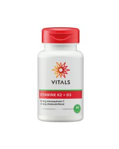 Vitals - Vitamine K2 90 mcg met vitamine D3 25 mcg - 60 capsules