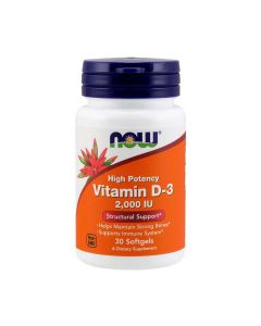 NOW - Vitamin D-3 - 2000IU - 30 soft gels