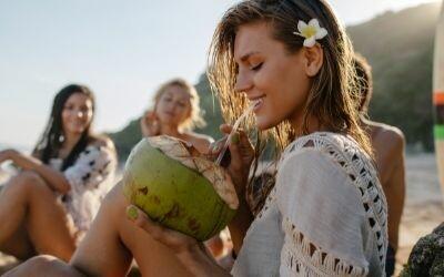 kokoswater voor goede hydratatie