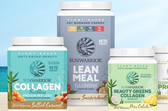 sunwarrior vegan sportsupplementen